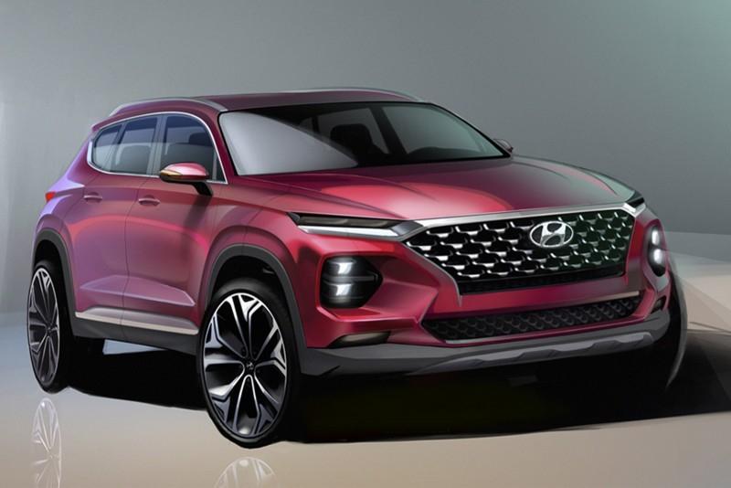 Новый Hyundai Santa Fe показали в официальных эскизах