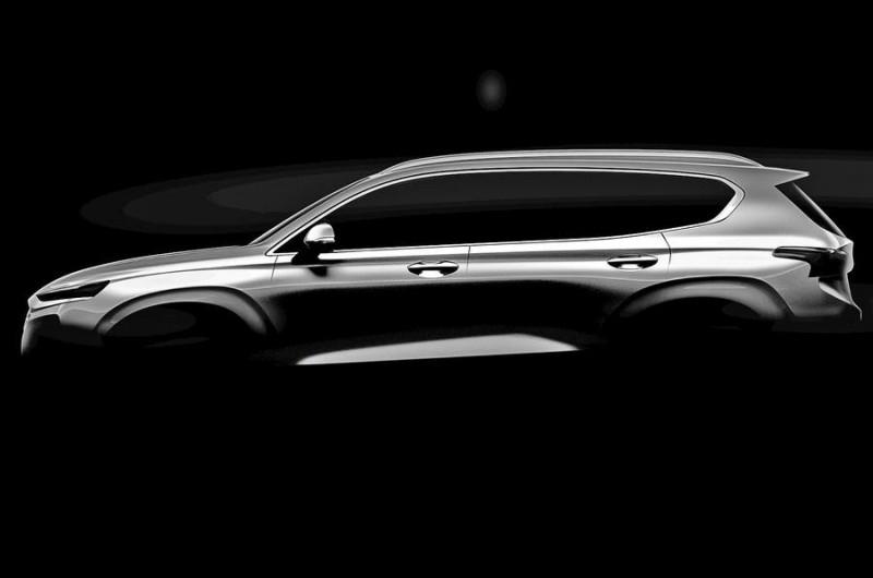 2018 Hyundai Santa Fe анонсировал свою премьеру на Женевском автосалоне
