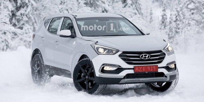 Премиальный кроссовер Genesis обкатывают «в шкуре» Hyundai Santa Fe