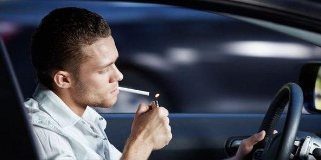 Курение в машине считается серьезным нарушением