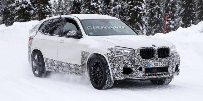«Заряженный» BMW X3 M «застукали» на зимних тестах