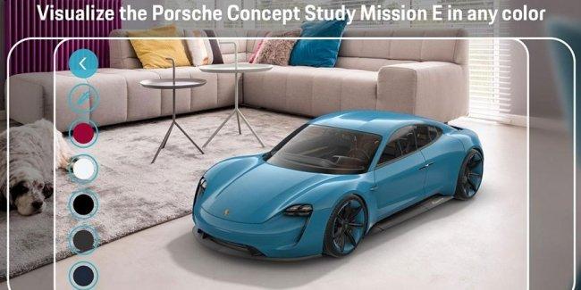 Прототип электрического спорткара Porsche вставили в дополненную реальность