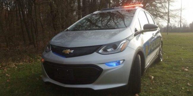 Полиция обзавелась электромобилями Chevrolet Bolt EV