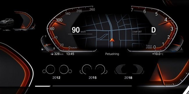 BMW показала новую виртуальную «приборку» и комплекс iDrive