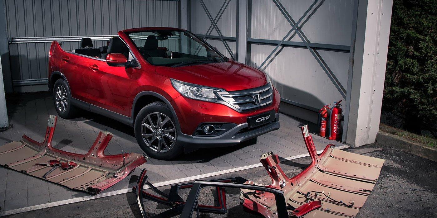 Honda превратила CR-V в неуправляемый кабриолет