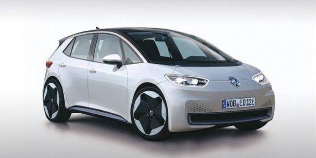 Появилось первое изображение массового электрокара Volkswagen