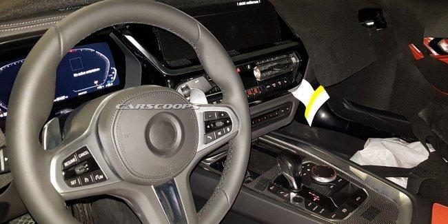 Фотошпионы раскрыли интерьер нового BMW Z4