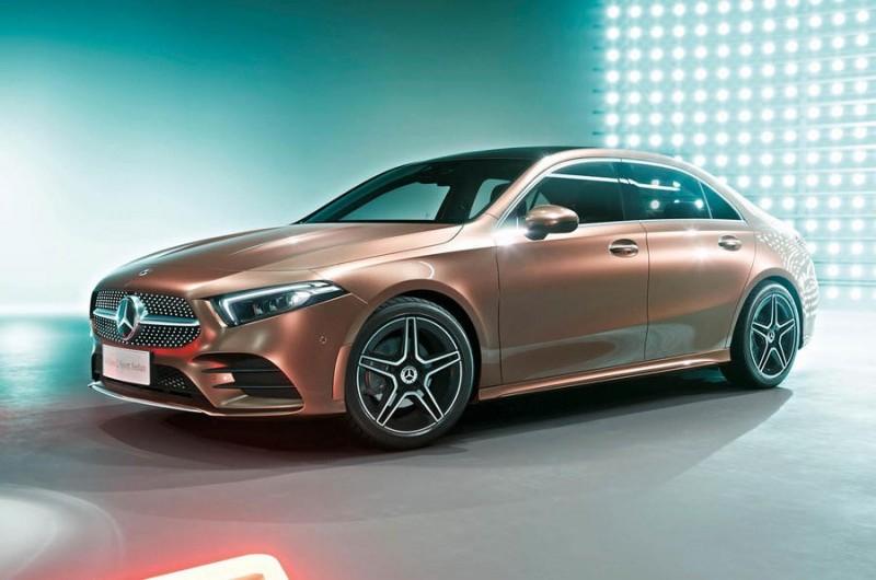 Удлиненный седан Mercedes A-Class представили в Китае