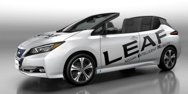Новый Nissan Leaf лишился крыши