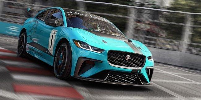Jaguar eTrophy I-Pace впервые выехал на гоночный трек