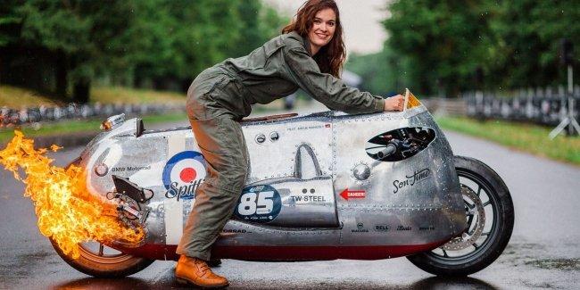 Мотоцикл под вдохновением самолета — кастом на базе BMW R1200R