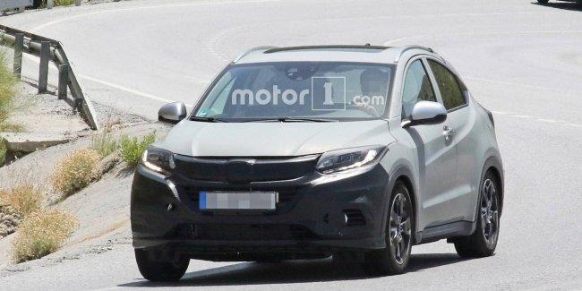 Обновленную Honda HR-V для Европы впервые заметили на тестах