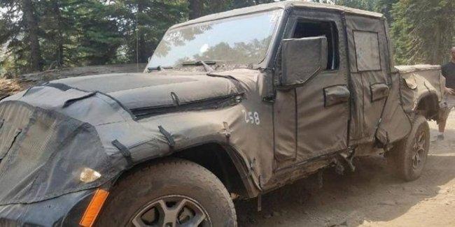 Пикап Jeep Wrangler протестировали в горах Сьерра-Невада