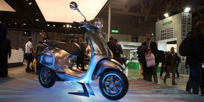 Запуск производства электрического скутера Vespa Elettrica намечен на сентябрь