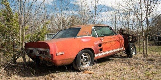 Уникальный Ford Mustang 20 лет простоял заброшенным во дворе