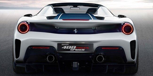 Суперкар Ferrari 488 Pista лишился крыши