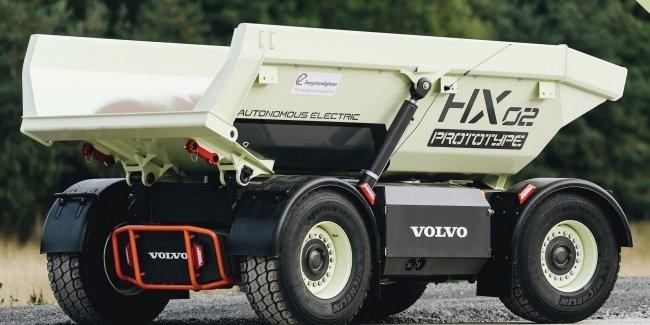 Volvo приступила к тестам беспилотных электрических самосвалов