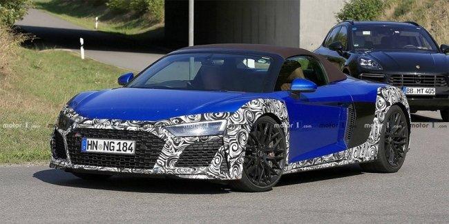 Audi начала испытания обновленного суперкара R8 Spyder