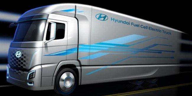 Hyundai показала первое изображение водородного грузовика
