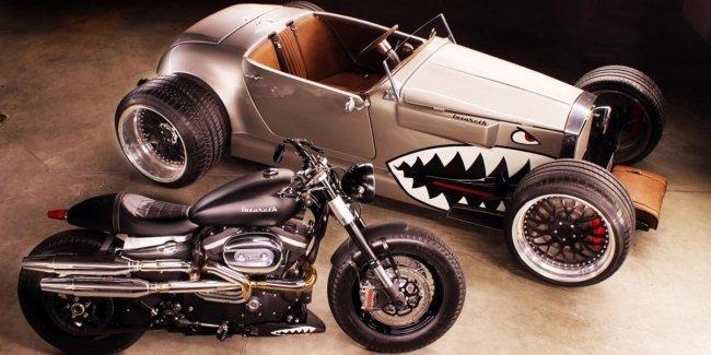Первый кастом мотоцикл Harley-Davidson от Людовика Лазарета