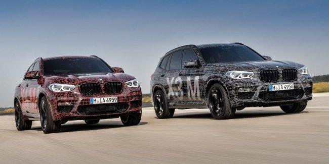 BMW показала прототипы горячих кроссоверов X3 M и X4 M