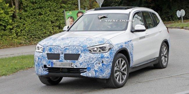 Электрический BMW iX3 предстал на новых фото с тестов