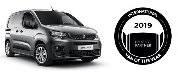 Новый PEUGEOT PARTNER:  Победитель международной премии International Van Of The Year 2019 года