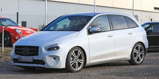 Дизайн минивэна Mercedes-Benz B-Class рассекретили до премьеры